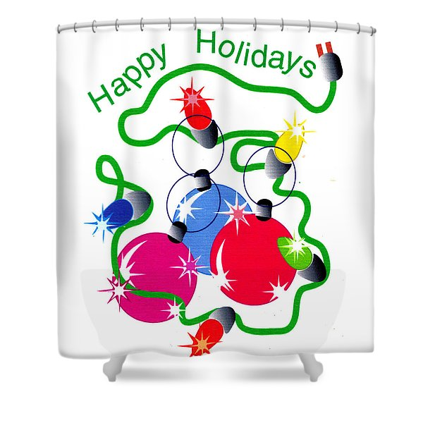 String Of Lights Shower Curtain