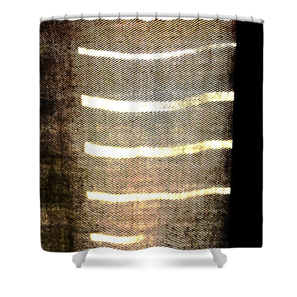 Stripes And Texture Shower Curtain