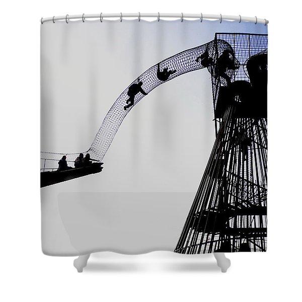 Striving Shower Curtain