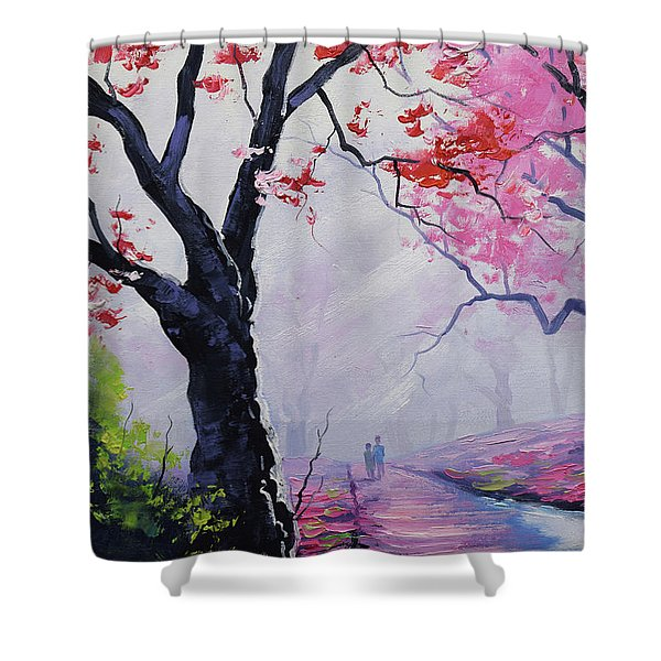 Stroll In The Mist Shower Curtain