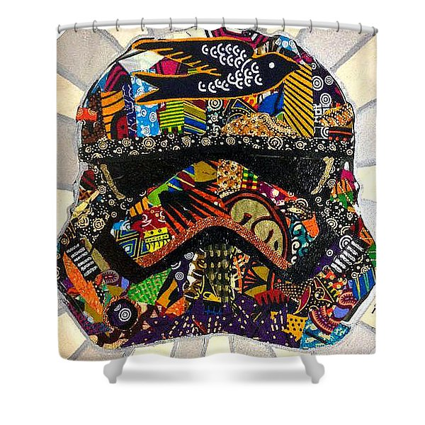 Strom Trooper Afrofuturist  Shower Curtain