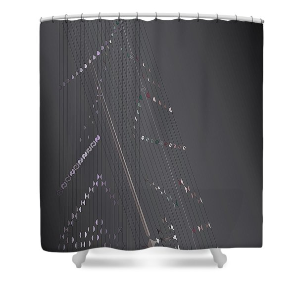 Strung Art Shower Curtain