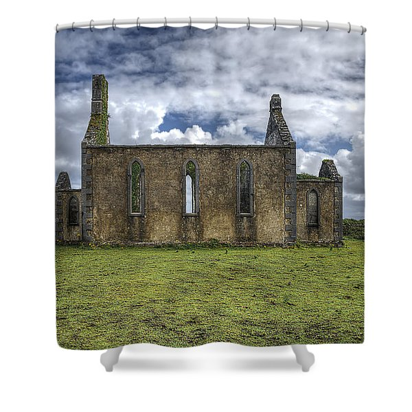 Stthomas Church In Aran Islands, Inis Mor Shower Curtain