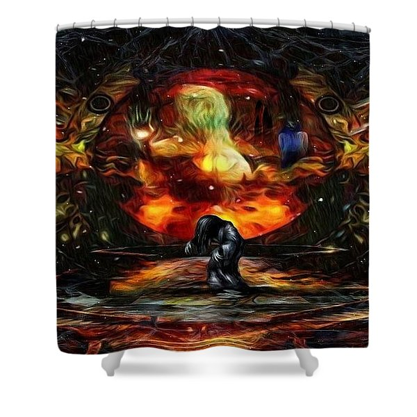 Stuck Behind The Nightmare Shower Curtain
