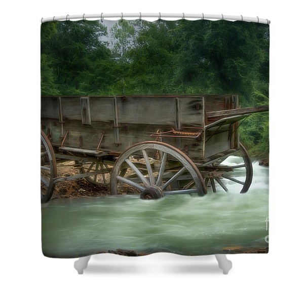 Stuck In Time Shower Curtain