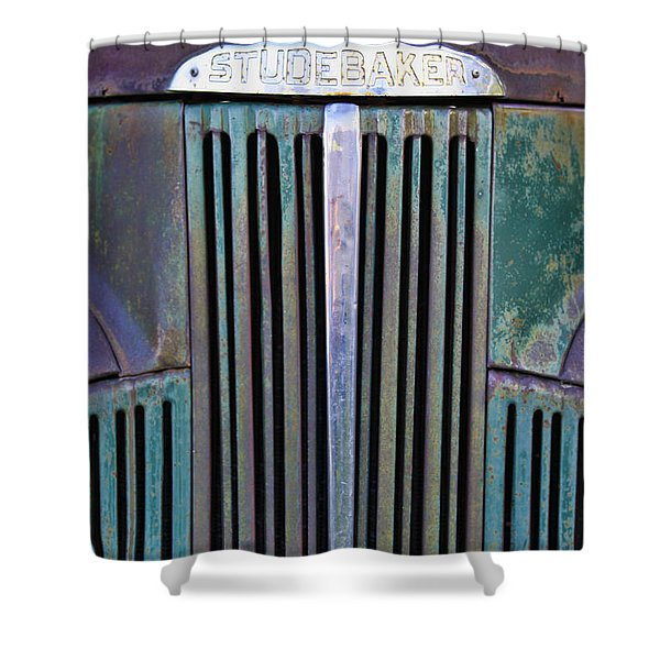 47 Studebaker Pick-up Grill Shower Curtain