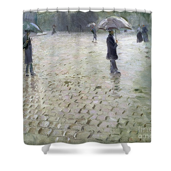 Study For A Paris Street Rainy Day Shower Curtain
