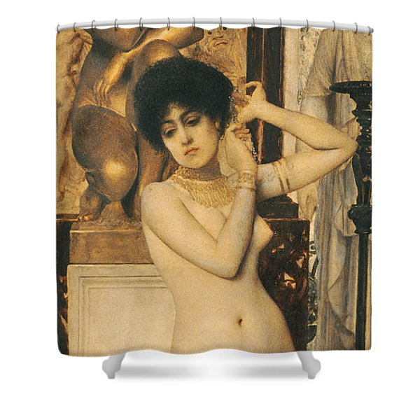 Study For Allegory Of Sculpture Shower Curtain