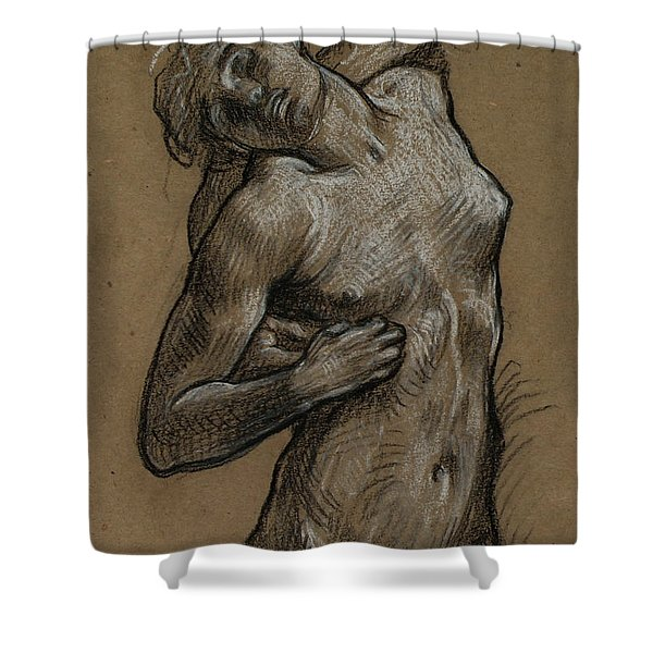 Study For And The Sea Gave Up The Dead Which Were In It Shower Curtain