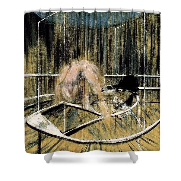 Study For Crouching Nude Shower Curtain