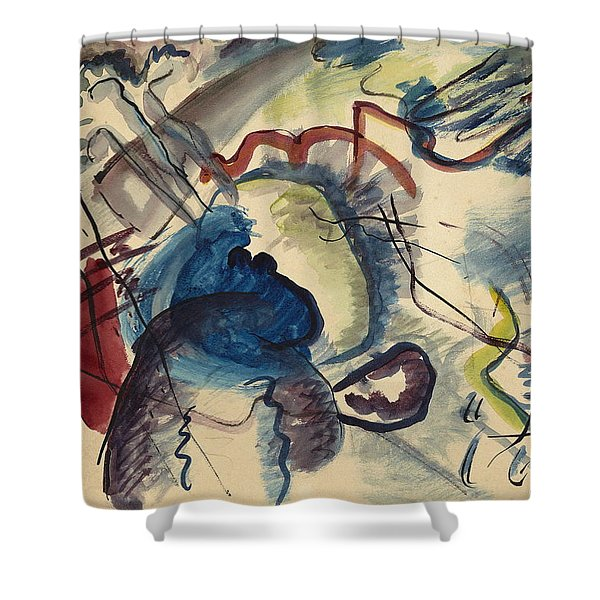 Study For  Painting With White Border Moscow  Shower Curtain