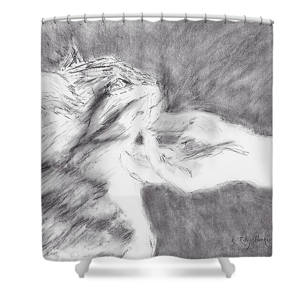 Study For Sweet Spot Shower Curtain