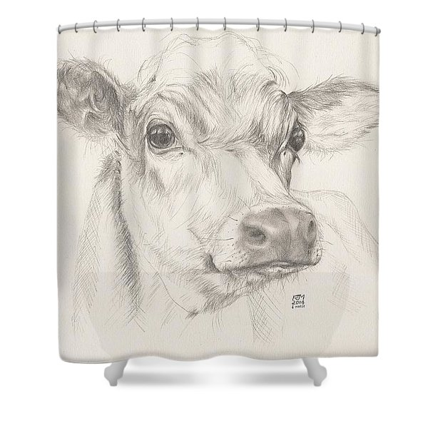 Study Of A Cow Shower Curtain