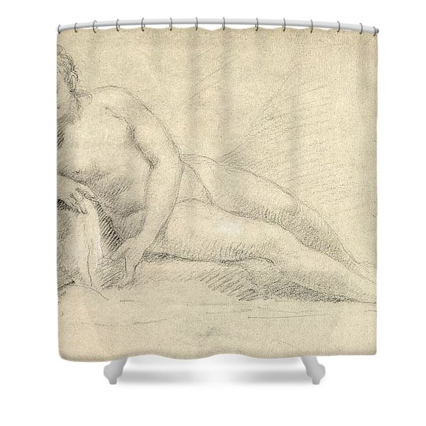 Study Of A Female Nude  Shower Curtain