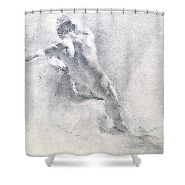 Study Of A Male Nude Shower Curtain