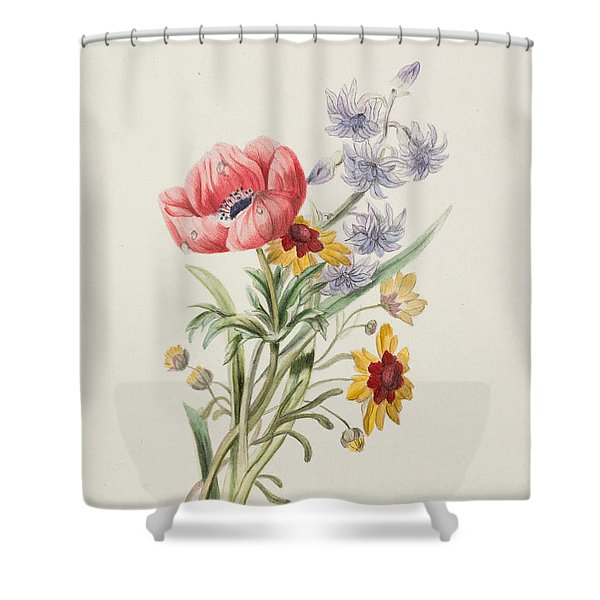 Study Of Wild Flowers Shower Curtain