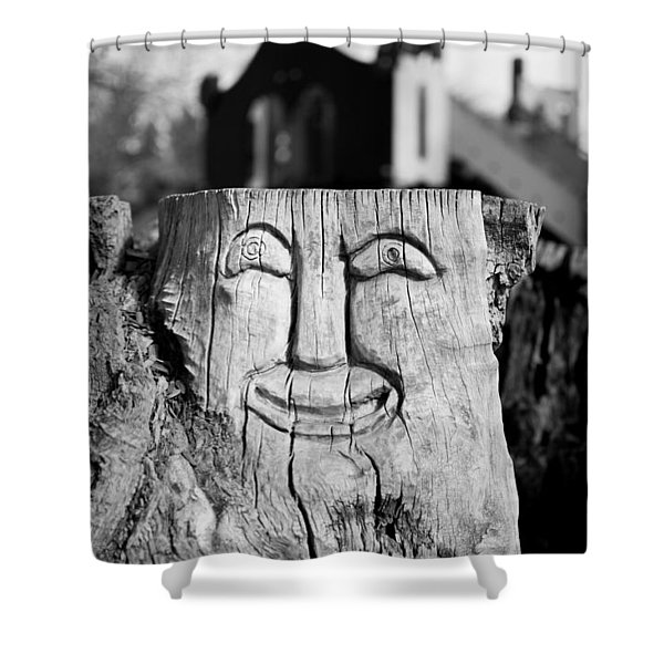 Stump Face 1 Shower Curtain