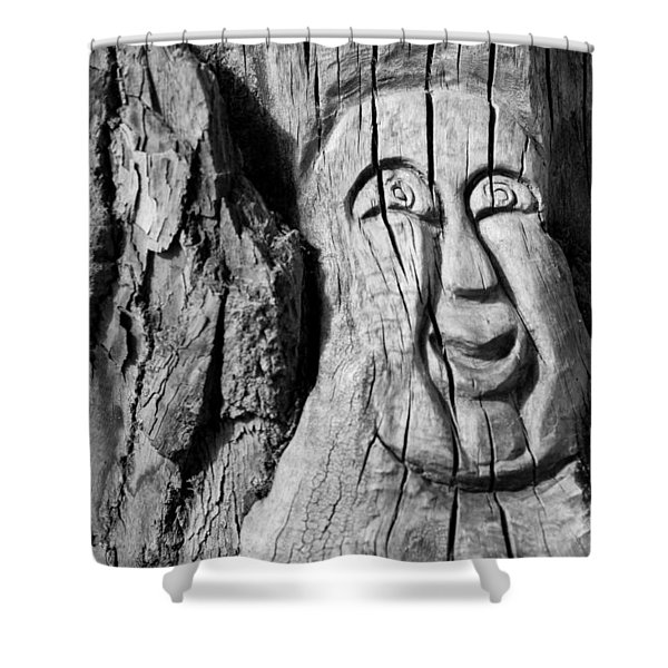 Stump Face 3 Shower Curtain