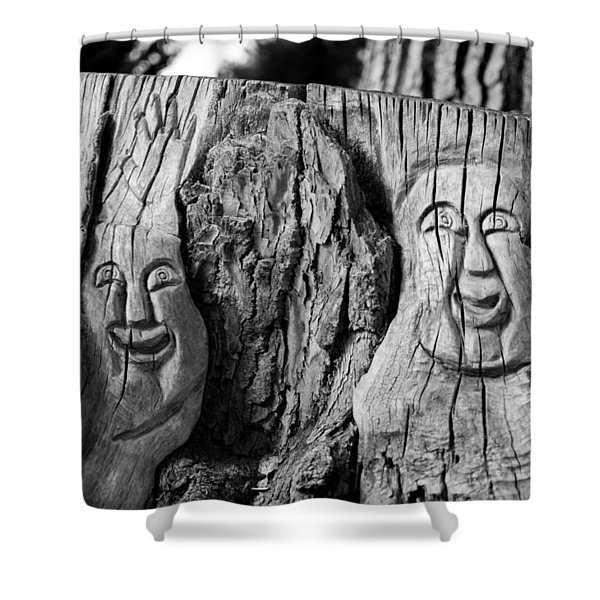 Stump Faces 2 Shower Curtain