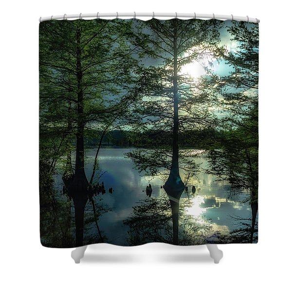 Stumpy Lake Shower Curtain