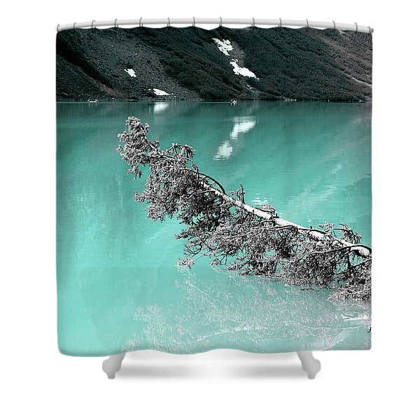 Stunning Turquoise Glacial Lake Shower Curtain