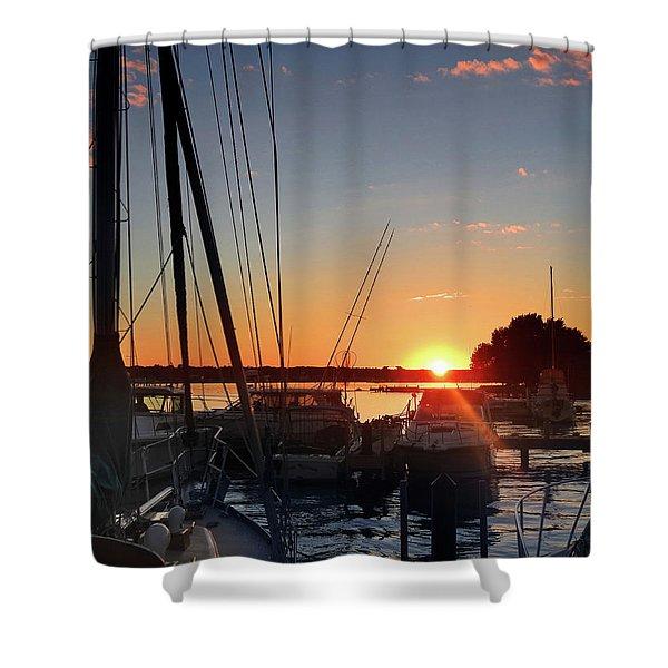 Sturgeon Bay Sunset Shower Curtain