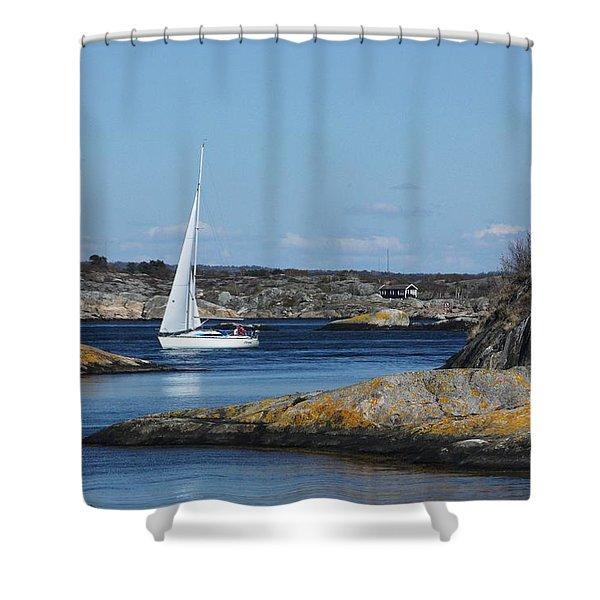 Styrso, Sweden Shower Curtain