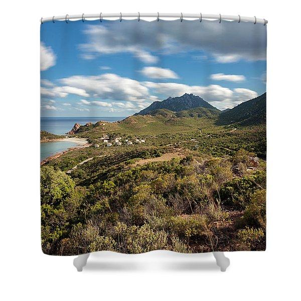 Su Sirboni Beach Shower Curtain