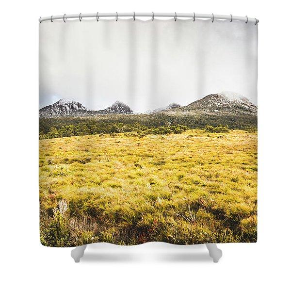 Sub Alpine Range Shower Curtain