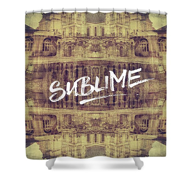 Sublime Fontainebleau Chateau France French Architecture Shower Curtain