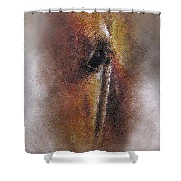 Subtle Horse Shower Curtain