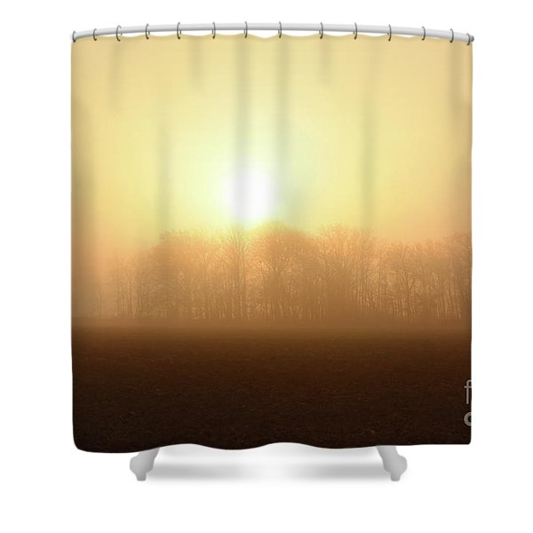 Subtle Sunrise Shower Curtain