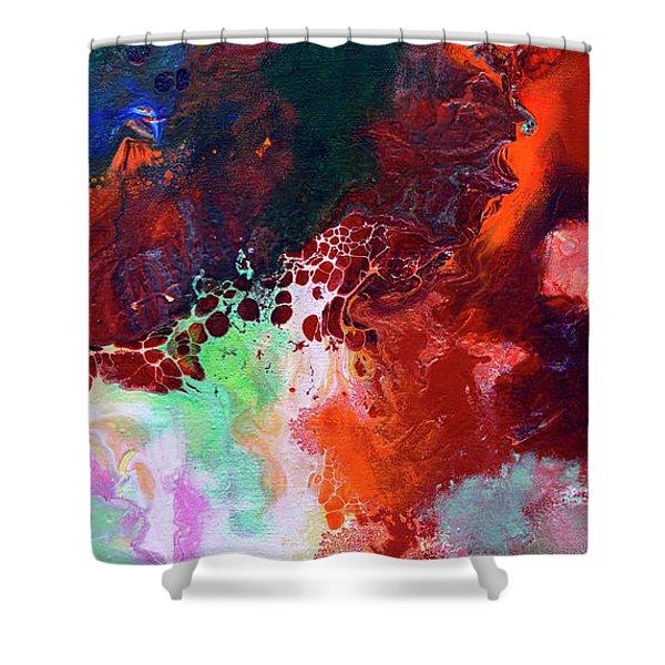 Subtle Vibrations, Canvas Five Of Five Shower Curtain