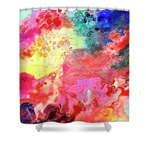 Subtle Vibrations, Canvas Four Of Five Shower Curtain