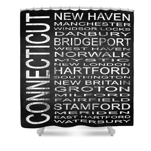Subway Connecticut State Square Shower Curtain