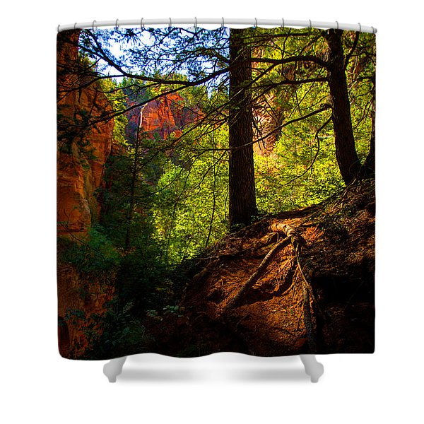 Subway Forest Shower Curtain