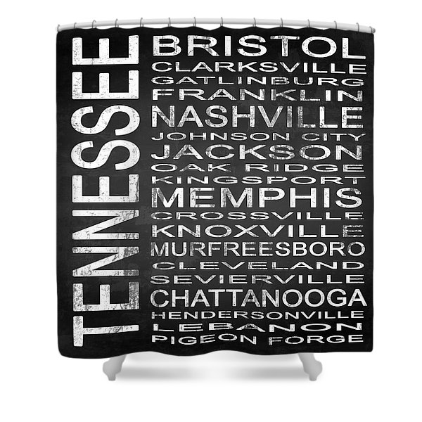 Subway Tennessee State Square Shower Curtain