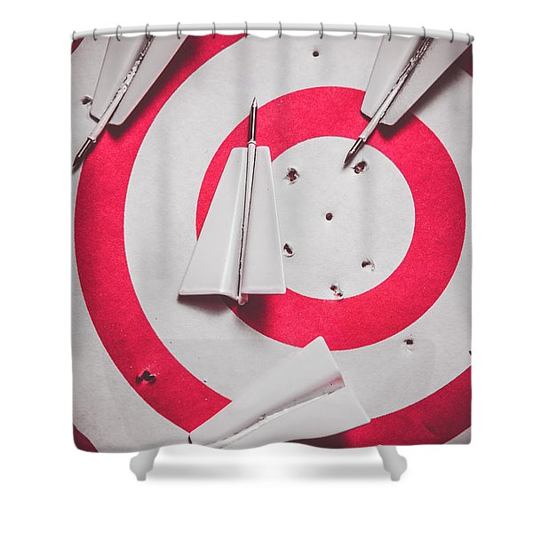 Success And Failures. Business Target Shower Curtain