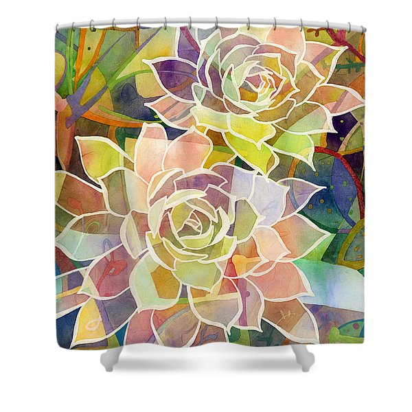 Succulent Mirage 2 Shower Curtain