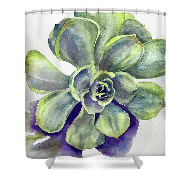 Succulent Plant Shower Curtain
