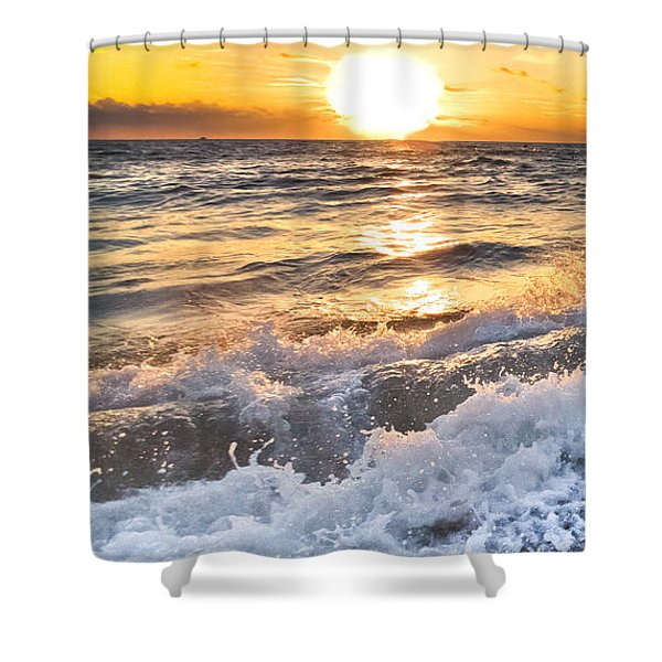 Sudsy Vertical I Shower Curtain