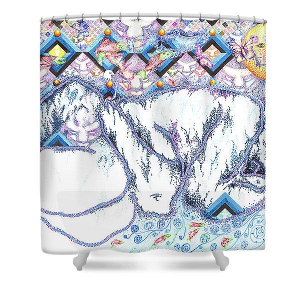 Suenos De Invierno Winter Dreams Shower Curtain