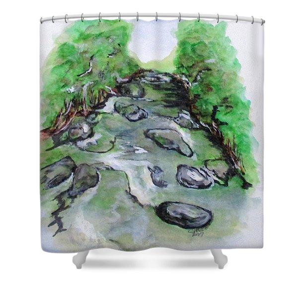 Sugar Creek, Boyhood Memory Shower Curtain