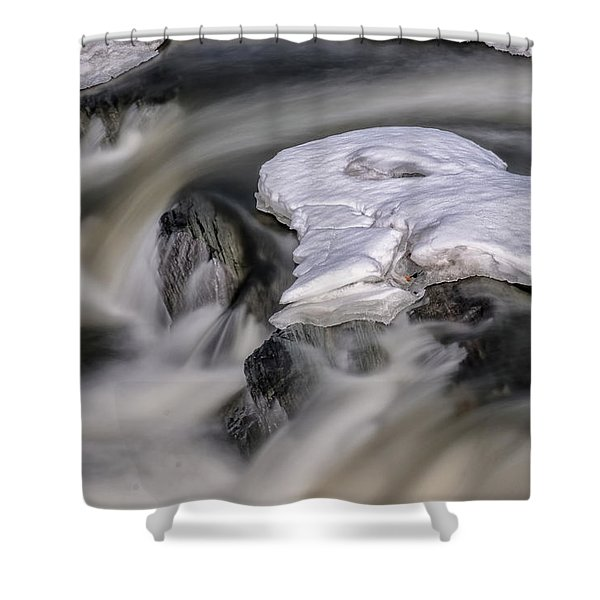 Shower Curtain featuring the photograph Sugar River Flowing by Tom Singleton