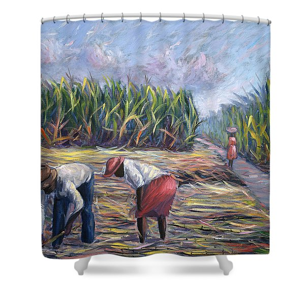 Sugarcane Harvest Shower Curtain