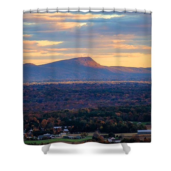 Shower Curtain featuring the photograph Sugarloaf View, South Deerfield, Ma by Sven Kielhorn