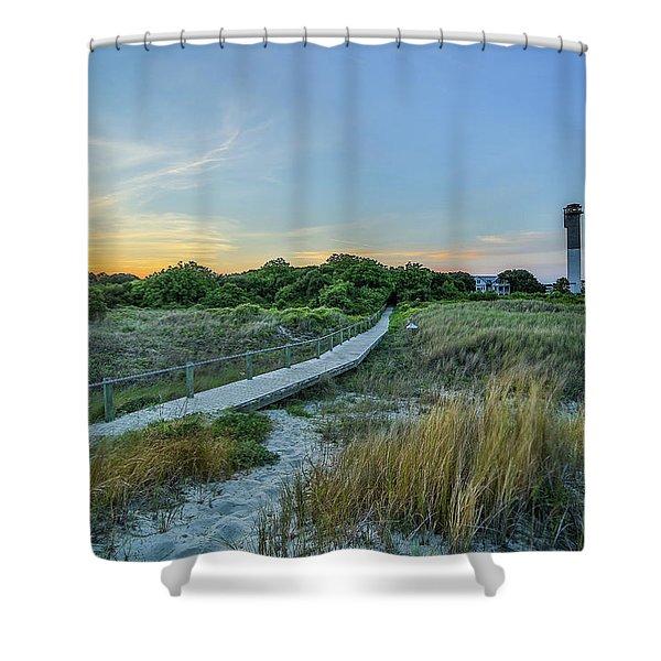 Sullivan's Island Evening Shower Curtain