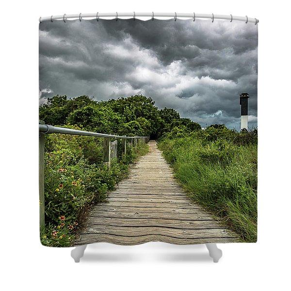 Sullivan's Island Summer Storm Clouds Shower Curtain