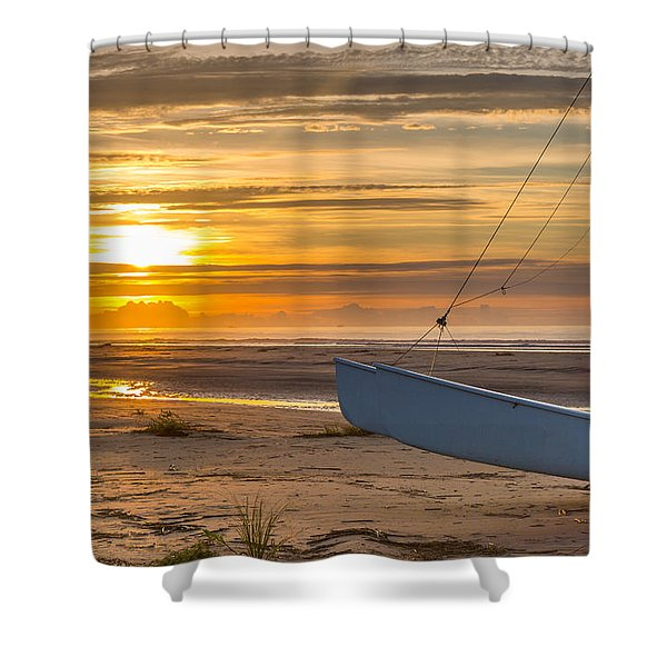 Sullivan's Island Sunrise Shower Curtain