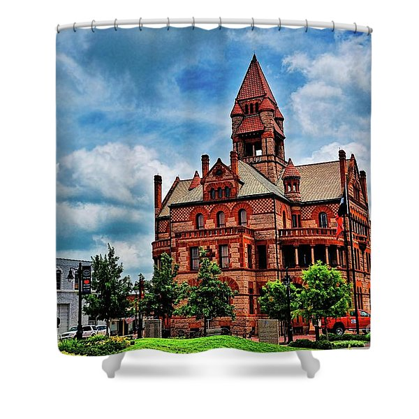 Sulphur Springs Courthouse Shower Curtain